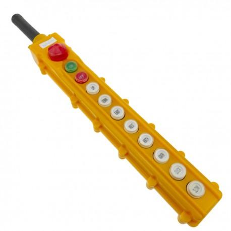 Caja de 2+2+2+2 pulsadores momentaneos y 2 conmutador y parada de emergencia de la serie COB