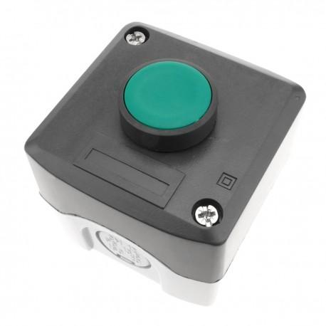 Caja de control con 1 pulsador momentaneo verde 1NO XAL-D101