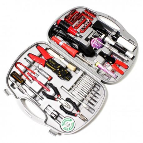 Estuche de herramientas varias de 145 piezas modelo GTK-145B con soldador