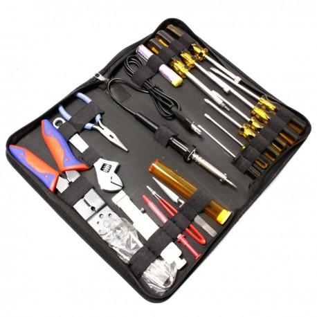 Estuche de herramientas varias de 20 piezas modelo GTK-050B con soldador