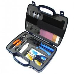 Maletín de herramientas para fibra óptica de 15 piezas