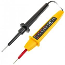 Comprobador de voltaje y tensión eléctrica con indicadores LED