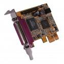 Tarjeta PCI-Express paralelo SPP EPP ECP 2 puertos de perfil bajo