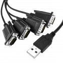 Cable USB a RS232 de 4 puertos