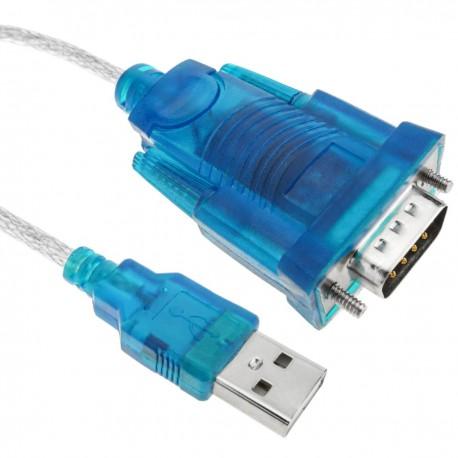 Cable USB a RS232 de 1 puerto DB9 macho de 1,5m