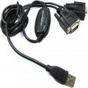 Cable USB a RS232 de 2 puertos