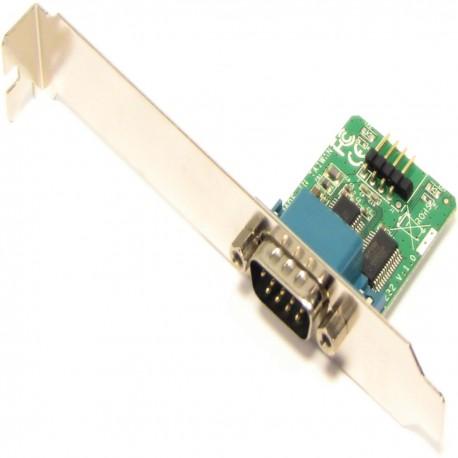 Slot adaptador USB a RS232 de 1 puerto DB9 macho interno
