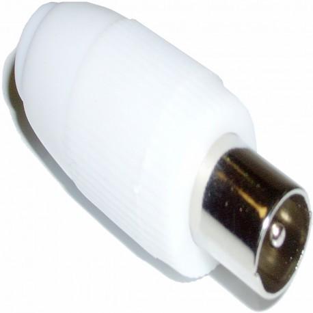 Conector Antena TV Macho (Recto/Plástico)