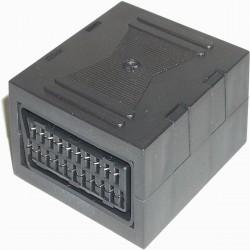 Adaptador Euroconector (SCART-Hembra/SCART-Hembra)