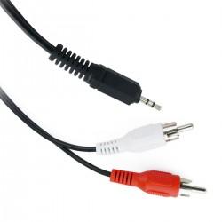 Cable de audio stereo de 2,5 mm macho a 2 RCA macho de 5 m