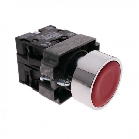 Pulsador momentáneo 22mm 1NO 1NC 400V 10A normal cerrado y normal abierto rojo