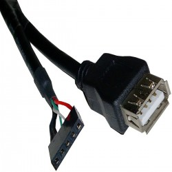 Cable USB 2.0 5-pin a AH 30cm (5P-H/A-H)