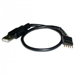 Cable USB 2.0 5-pin a AM 30cm (5P-M/A-M)