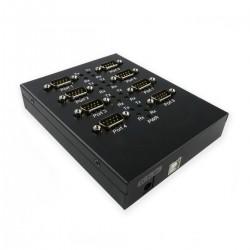 Adaptador USB a RS232 VSCOM de 8 puertos serie y montaje rail DIN