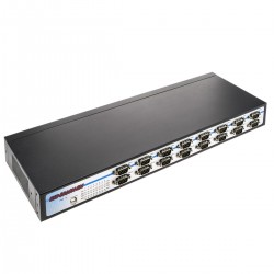 "Adaptador USB a RS232 VSCOM 16 puertos AM 16xDB9M compatible con carril DIN y rack 19"" 1U"