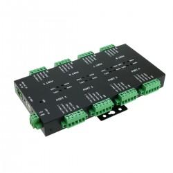 Adaptador industrial USB 2.0 a RS232 RS422 RS485 de 8 puertos