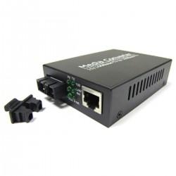 Conversor de fibra óptica 100 Mbps monomodo de SC a RJ45 a 40Km