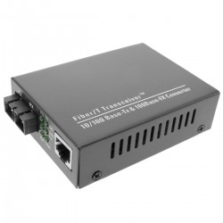 Conversor de fibra óptica 100 Mbps monomodo de SC a RJ45 a 60Km