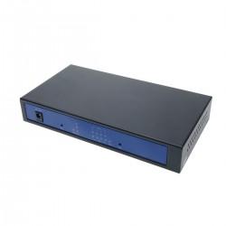 Conversor de fibra óptica 100Mbps monomodo 4xRJ45 SC 1310nm simplex 40km