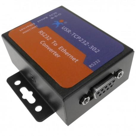Módulo T24 RS232 serie a ethernet TCP/IP con carcasa modelo USR-TCP232-302
