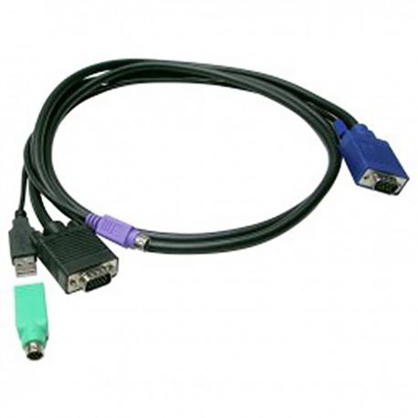 Cable KVM Switch Uniclass Prima para PS2 y USB de 3m