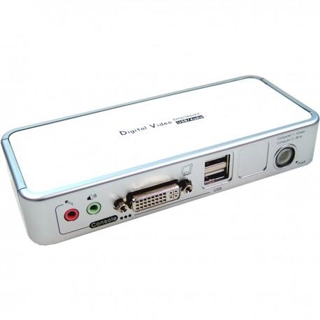 Conmutador KVM Uniclass DVI USB2 AUDIO 1KVM a 2CPU