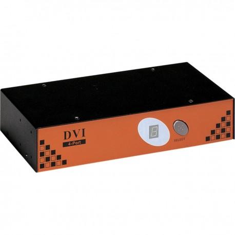 Conmutador KVM Uniclass de PS2 DVI 1280x1024 1KVM a 4CPU