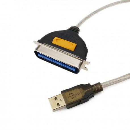 Cable USB a puerto paralelo (A macho a centronics 36 macho)