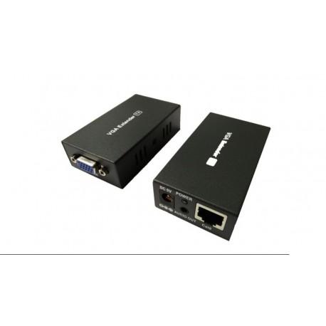 Amplificador VGA+Audio por RJ45 Cat. 6 100m