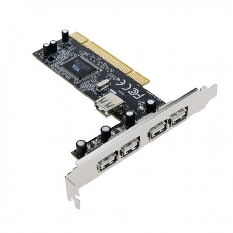 Tarjeta PCI USB 2.0 5-Port (4AH 1AH)