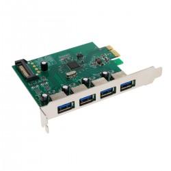 Tarjeta PCI-Express a SuperSpeed USB 3.0 de 4 puertos externos