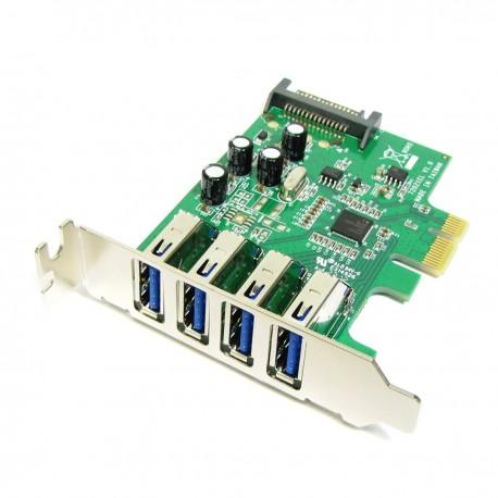 Tarjeta PCI-Express a SuperSpeed USB 3.0 de 4 puertos externos perfil bajo