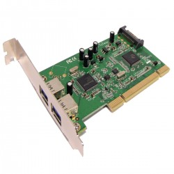 Tarjeta PCI a SuperSpeed USB 3.0 de 2 puertos externos