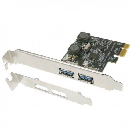 Tarjeta PCIe a SuperSpeed USB 3.0 con 2 puertos externos