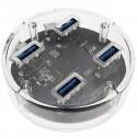 Concentrador USB 3.0 SuperSpeed hub 5 Gbps de 4 puertos con cable