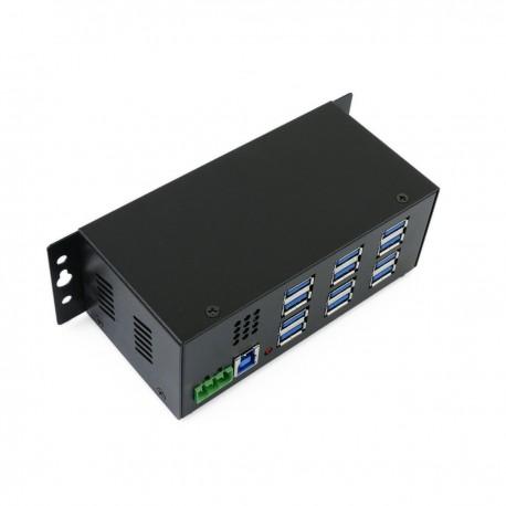 Concentrador USB 3.0 industrial de 12 puertos AH