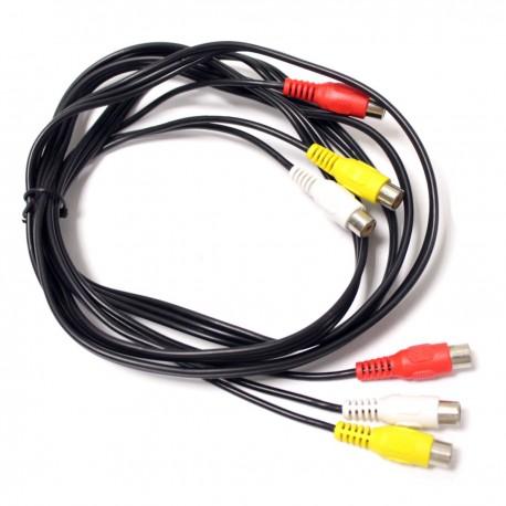 Cable de audio vídeo estéreo 2m 3xRCA hembra-hembra
