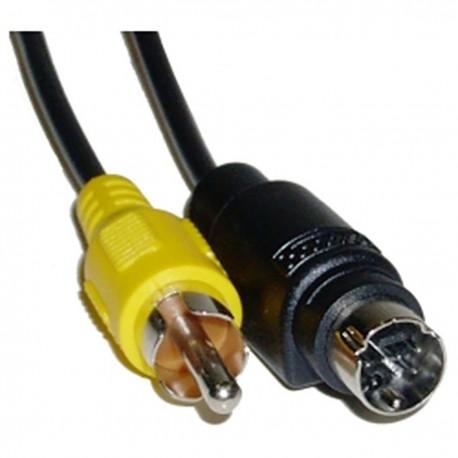 Cable S-VHS 3m (MiniDIN7-M/RCA-M)