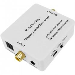 Conversor y repetidor de audio digital (TosLink a Coaxial)