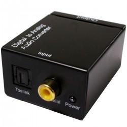 Conversor de audio digital a analógico toslink coaxial RCA