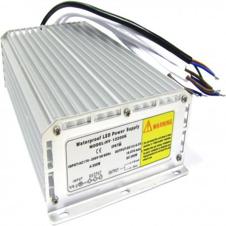Fuente de alimentación industrial 12VDC 16A 3 OUT IP67