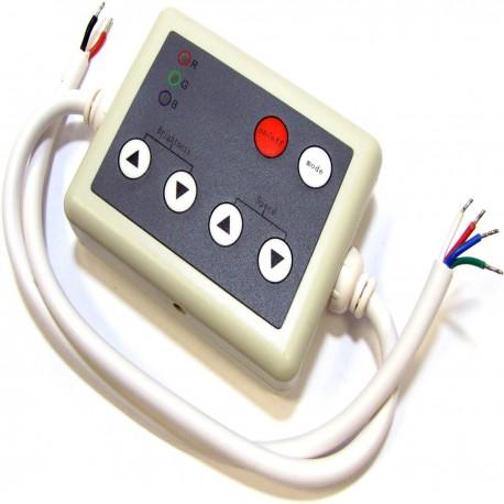 Controlador para tira de LEDs RGB de 12A con control remoto IR (B)