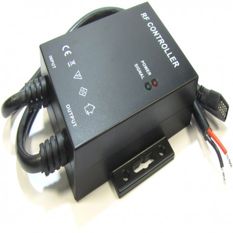 Controlador para tira de LEDs RGB de 18A con control remoto RF (B)
