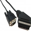 Cable VGA a Euroconector 2m (HD15-M/SCART-M)