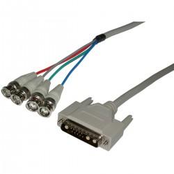 Cable Vídeo RGB 1.2m (1x13W3-M/4xBNC-M)