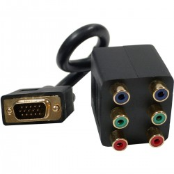 Cable Duplicador Pasivo (1 VGA a 2 3xRCA-H)