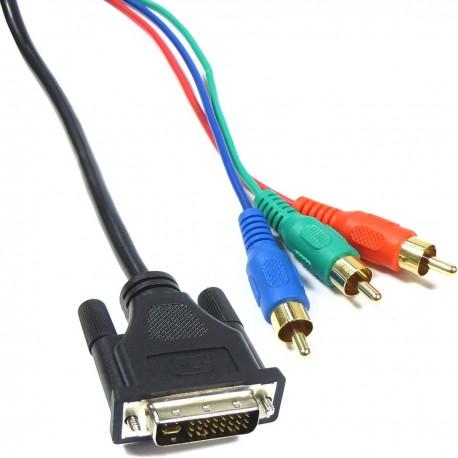 Cable DVI-I macho a RGB 1.8M (3xRCA-M)
