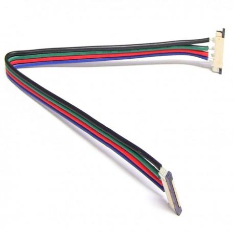 Empalme con cable de 20 cm para tira de LED RGB de 12 mm
