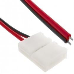 Conector a presión con cable para tira de LED monocromo 8mm