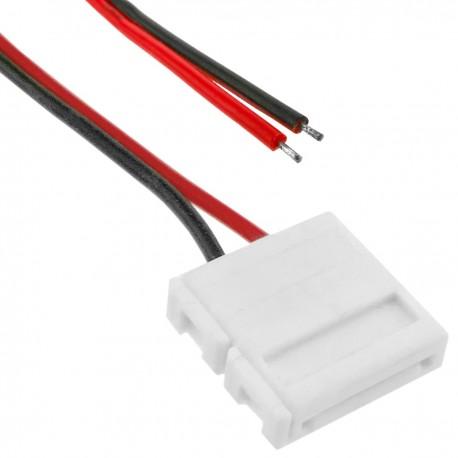 Conector a presión con cable para tira de LED monocromo 12mm